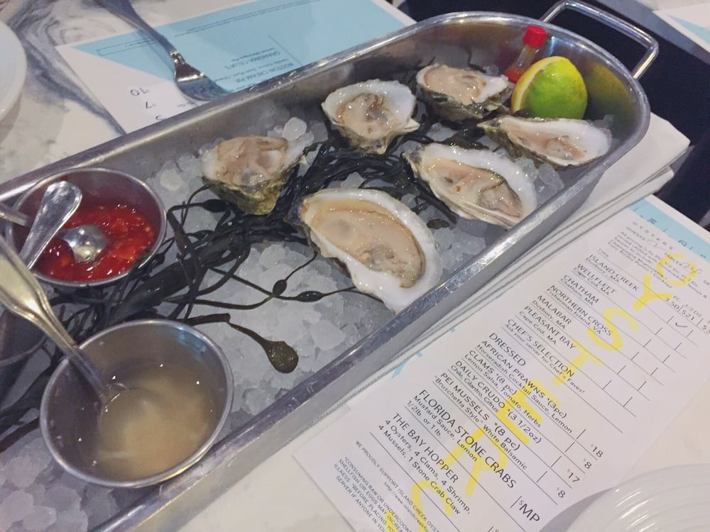 Island creek oysters on the half shell yelp for Izzys fish and oyster