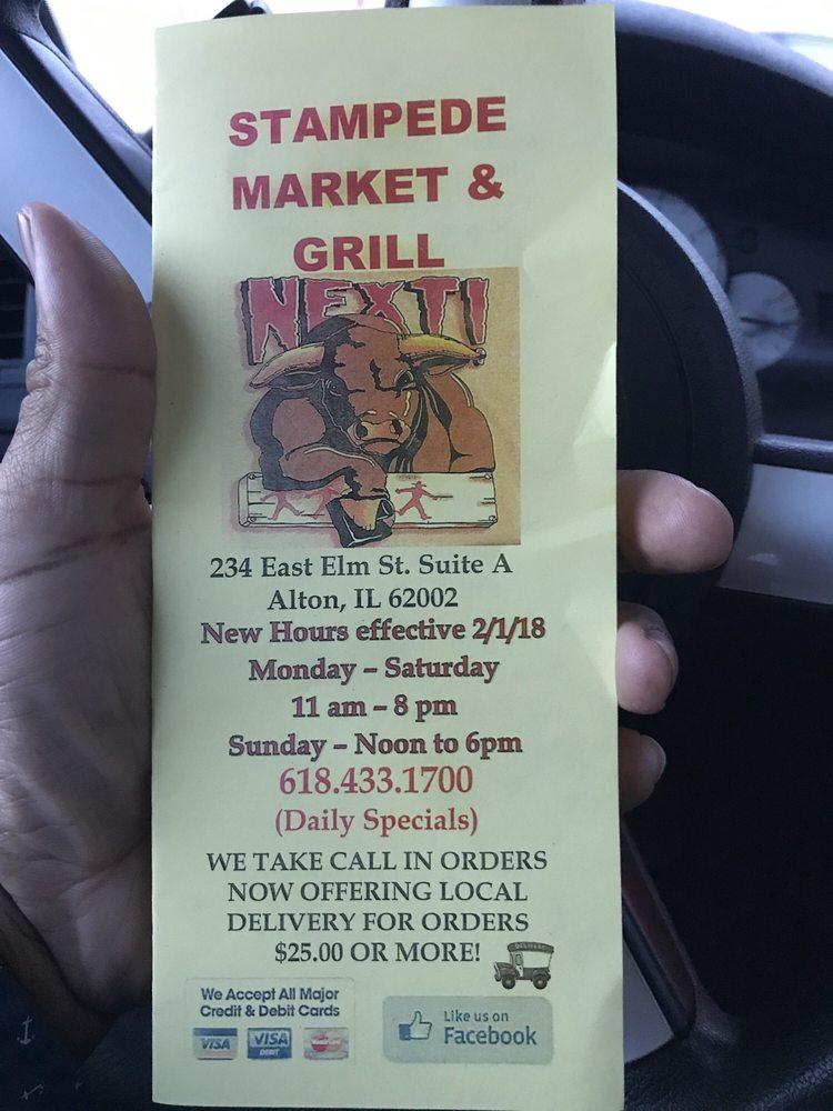Stampede Market & Grill: 234 E Elm St, Alton, IL