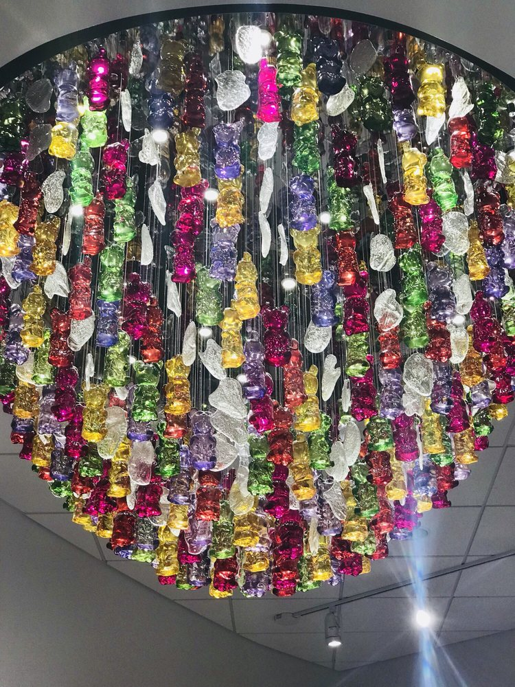 Gummy bear chandelier at the candy shop yelp photo of great wolf lodge colorado springs co united states gummy bear aloadofball Images