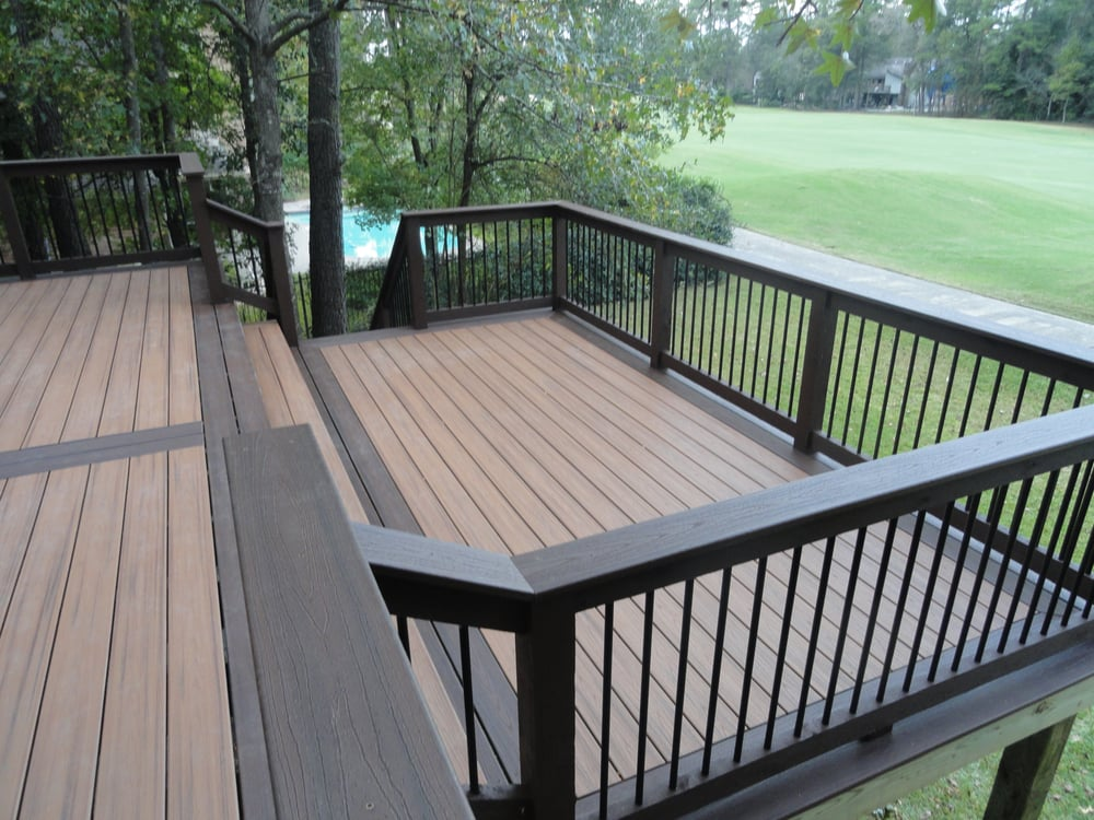 Two Story Two Level Two Tone Trex Deck Yelp