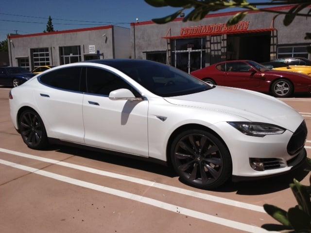 Special Order 2013 Tesla Model S P85 In For Ceramic Tints