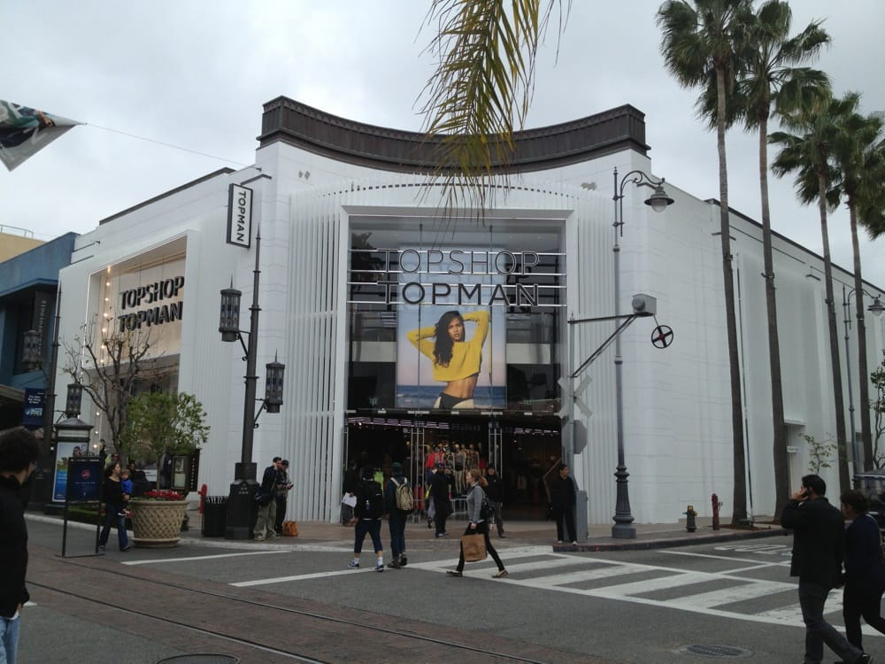 Clothing stores on fairfax