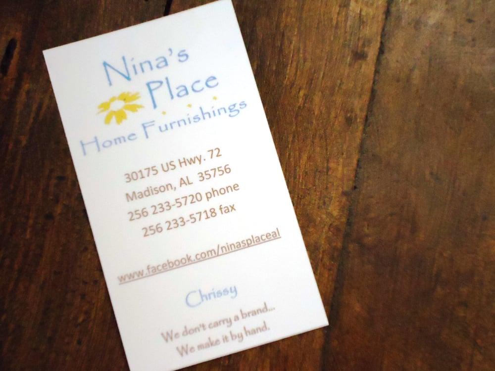 Nina's Place Home Furnishings: 30175 US Highway 72, Madison, AL