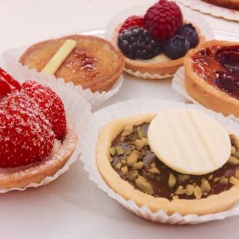 ... . Petit fours- strawberry, creme brûlée, chocolate, berries, cherry