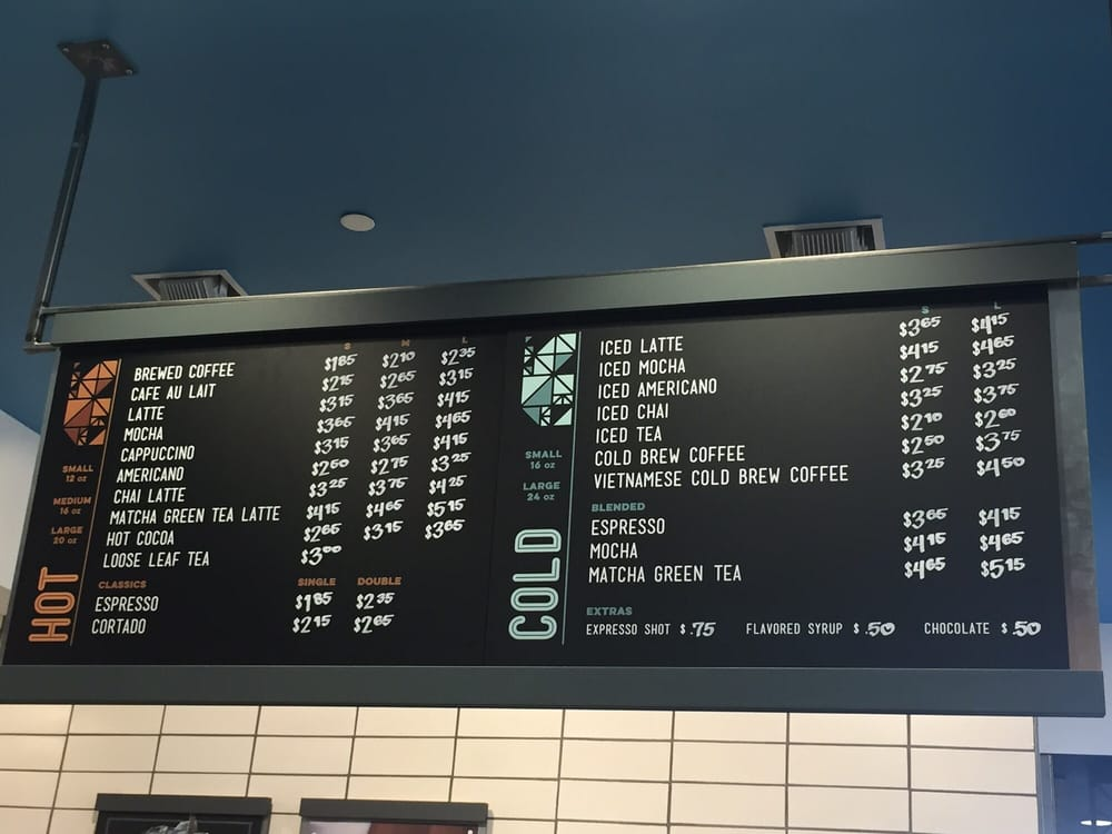 Allegro coffee menu - Yelp