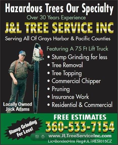 J&L Tree Service: 112 Fairway Dr, Aberdeen, WA
