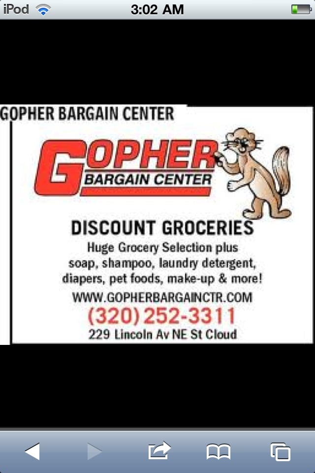 Gopher Bargain Center: 229 Lincoln Ave NE, Saint Cloud, MN