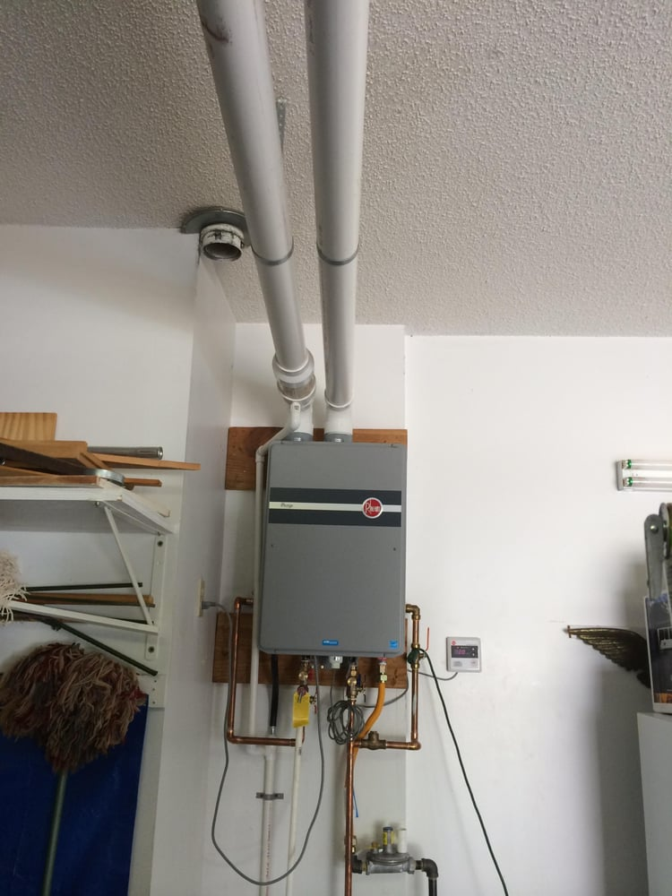 Condensing Tankless Water Heater Pvc Intake And Vent Yelp