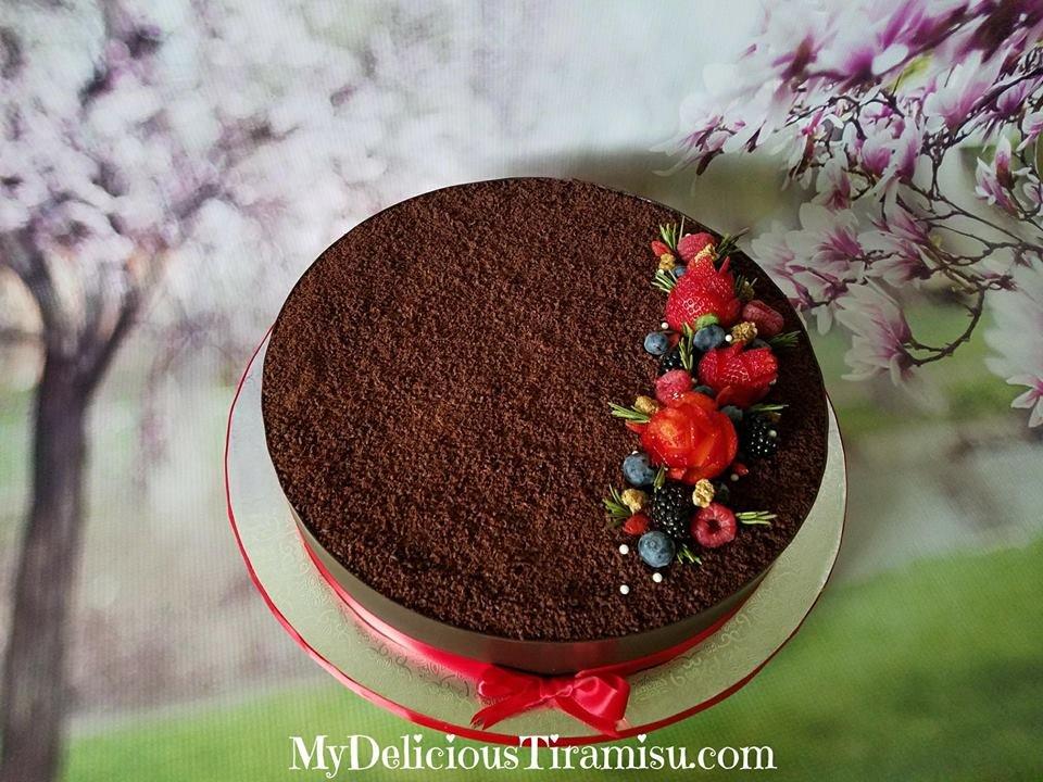 Tiramisu cake for my friends birthday Delicious Yelp