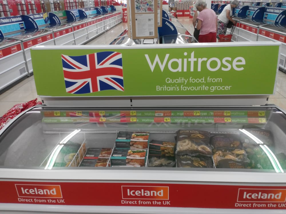 They distribute waitrose 39 s products in spain upmarket uk for Iceland torrevieja
