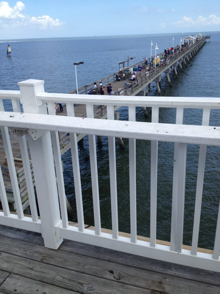 We are on the upper deck overlooking the pier yelp for Ocean view fishing pier