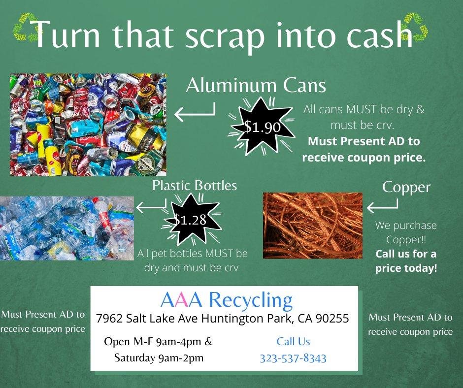 AAA Recycling: 7962 Salt Lake Ave, Cudahy, CA