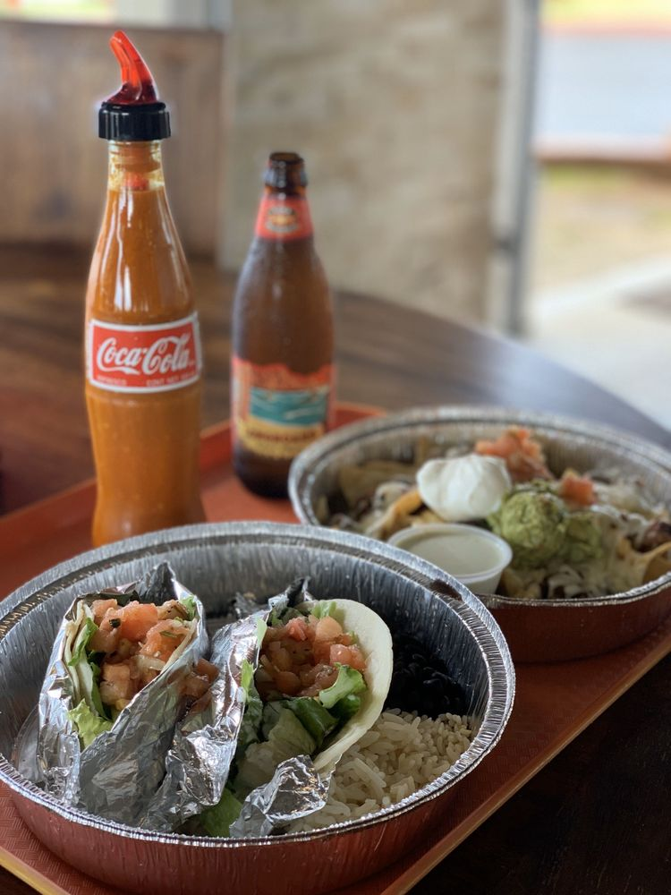 Food from North Shore Tacos