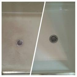 Photo Of Sharp Refinishing Colleyville Tx United States Fibergl Shower Pan