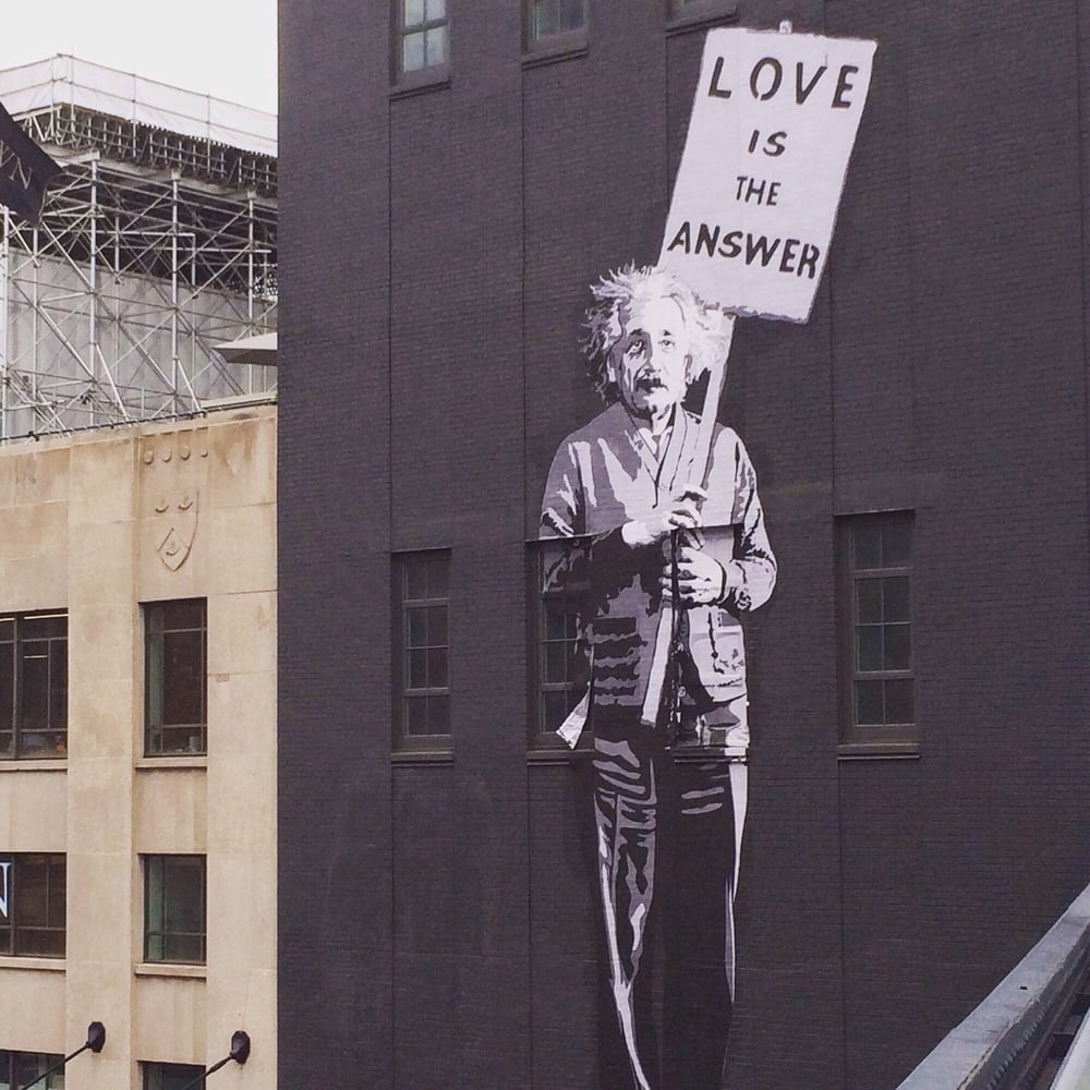 einstein and love is the answer to everything in life
