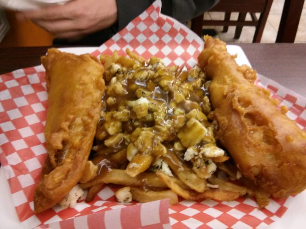 Two piece fish and newfie poutine yelp for Best place for fish and chips near me