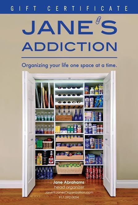 Jane's Addiction Organization: 21 Morewood Oaks, Port Washington, NY