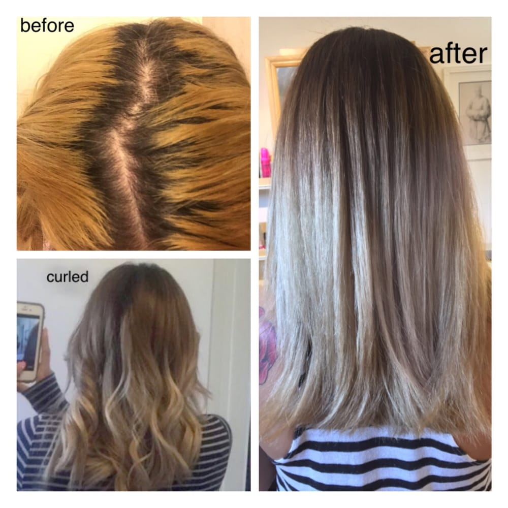 Color Correction From An All Over Brassy Bleach To A