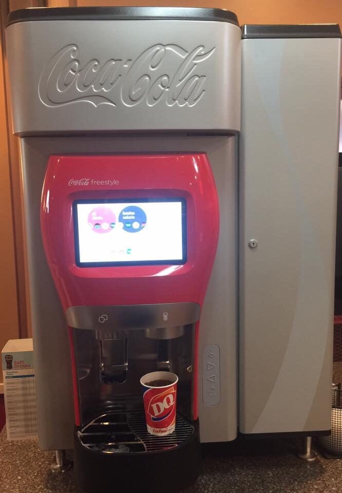 the first beverage from coca cola freestyle 7000 machine 3 56 am march 30 2016 at dairy queen. Black Bedroom Furniture Sets. Home Design Ideas