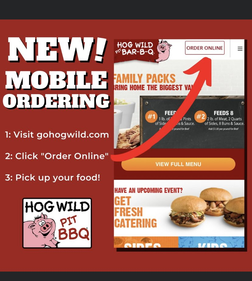 Hog Wild Pit Bar-B-Q: 1530 W Central Ave, El Dorado, KS