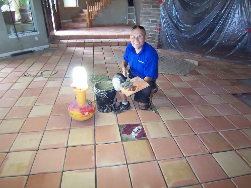 Custom Tile Work : Installation of saltillo tiles sq ft yelp