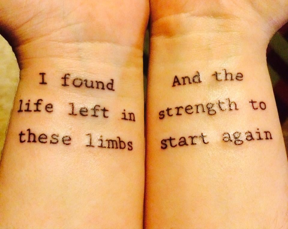 Amity affliction tattoos
