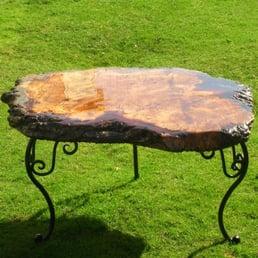 Photo Of Unique Wild Wood Furniture Kent United Kingdom English Burr Oak Table