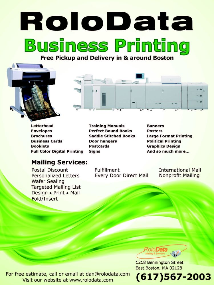RoloData Mailing & Services - Get Quote - Printing Services - 1218 ...