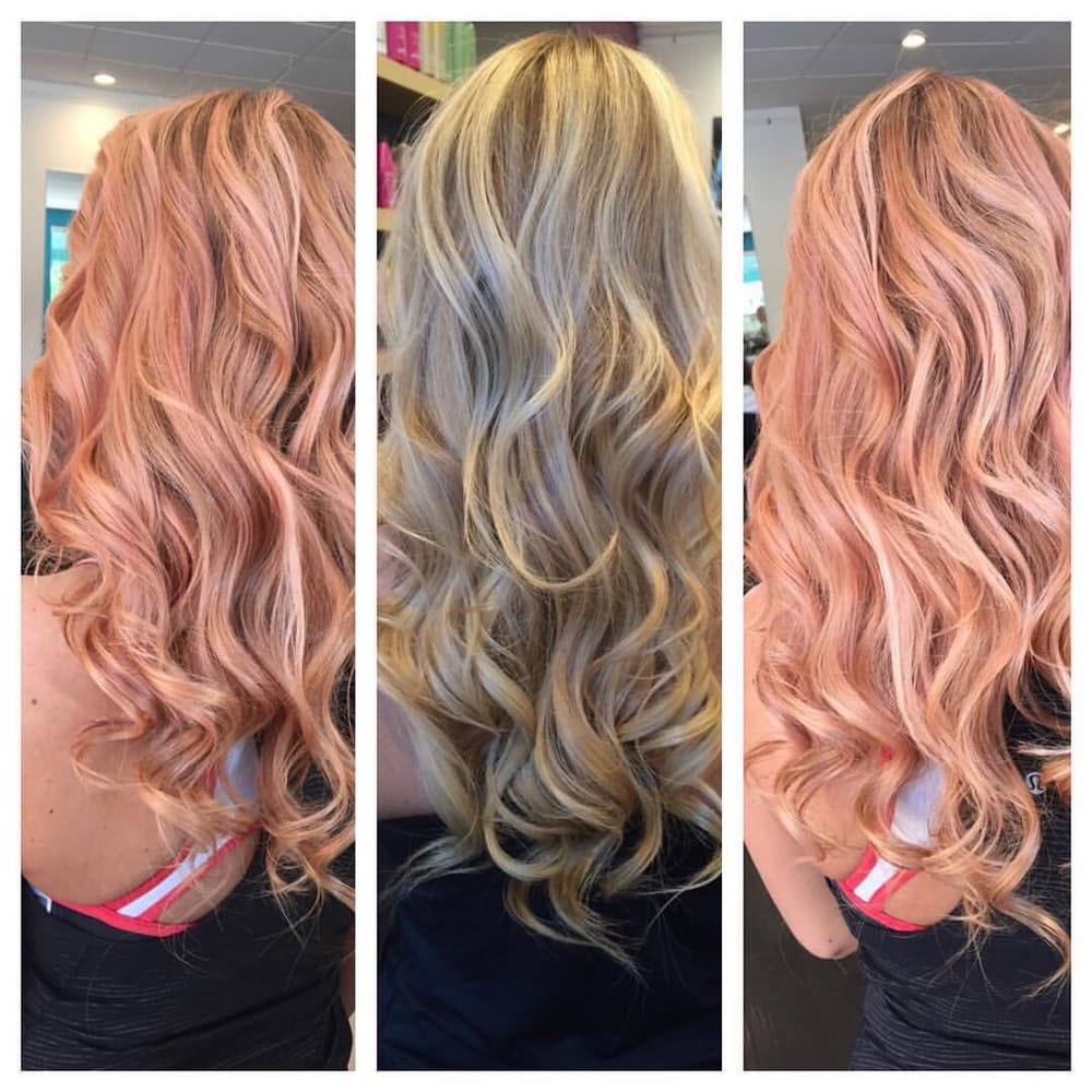 Custome Rose Gold Hair Color By Chaz Salon Patine Redken
