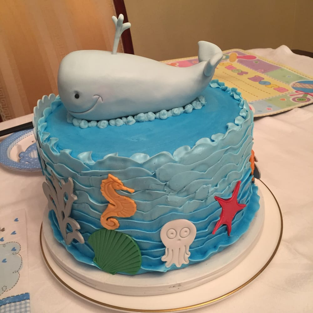 Baby Shower Ocean Themed Cake For A Boy Beautifully Done Yelp