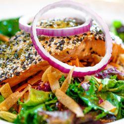 Photo Of Remington S Seafood Grill Addison Tx United States Sesame Salmon Salad