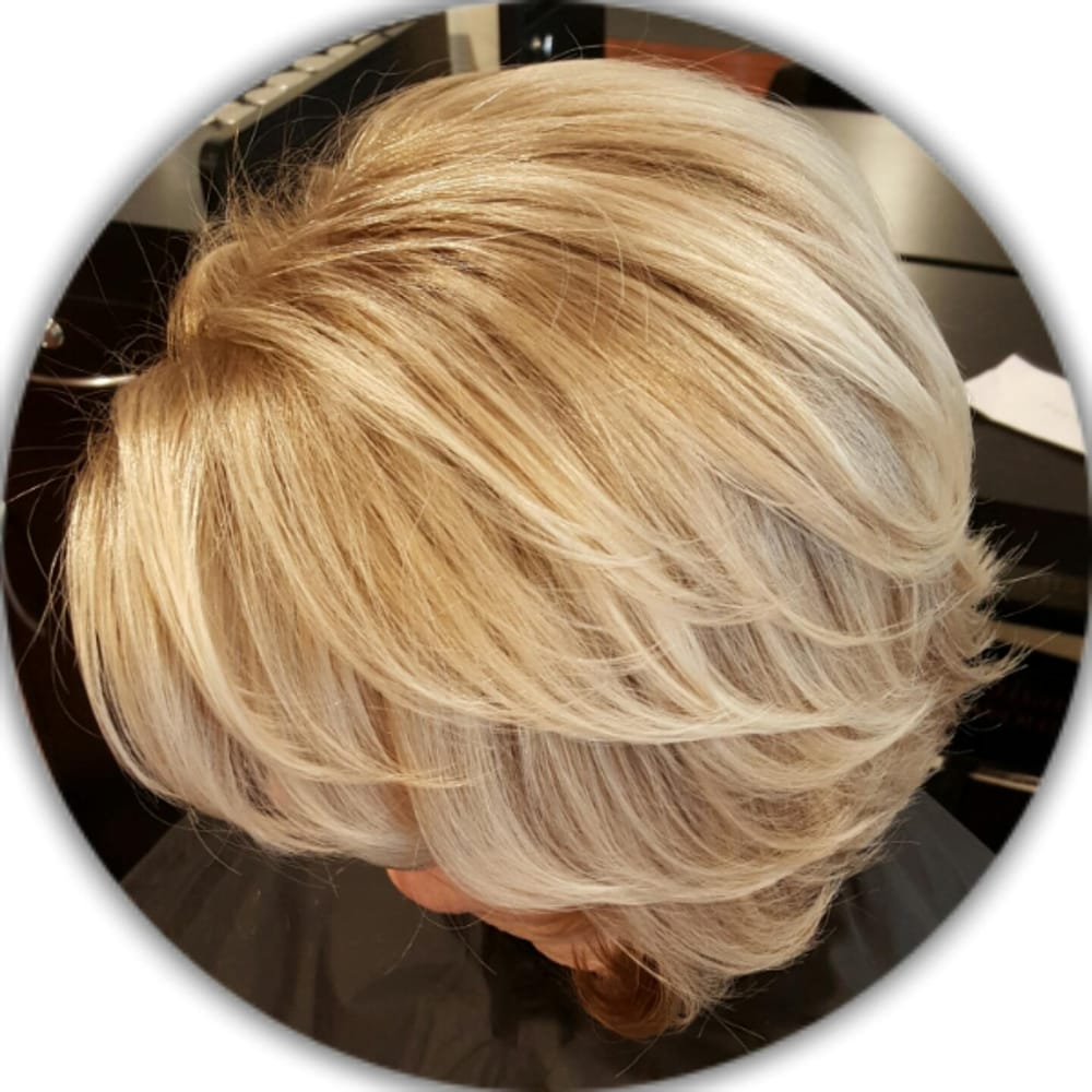 Base Color To Cover Gray And Balayage Highlights By Rodilyn Yelp