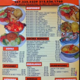 Cafe Verde Takeaway Menu
