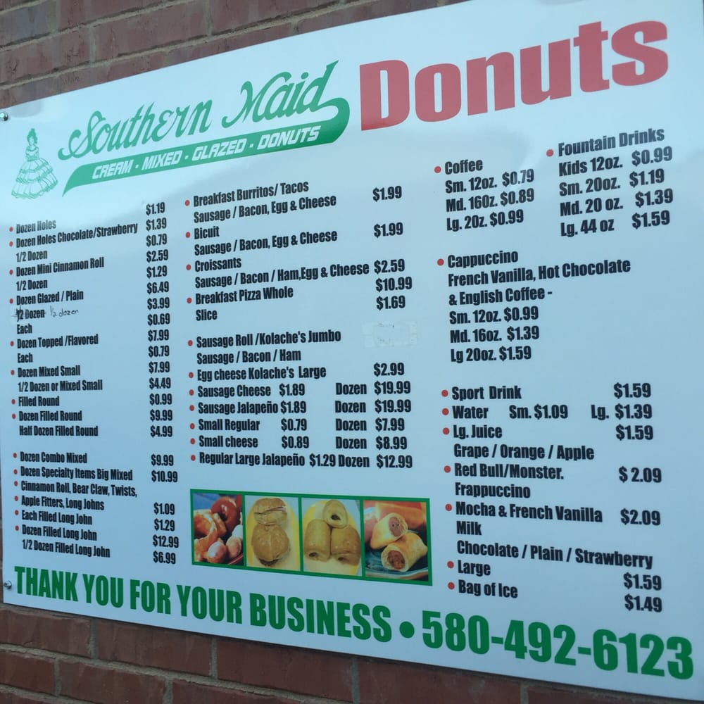 Southern Maid Donuts: 101 Thoma Dr, Elgin, OK