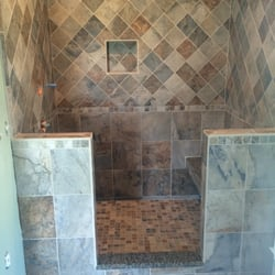 Photo of Stan Swaggerty Tile Design - Farragut, TN, United States. Slate Shower