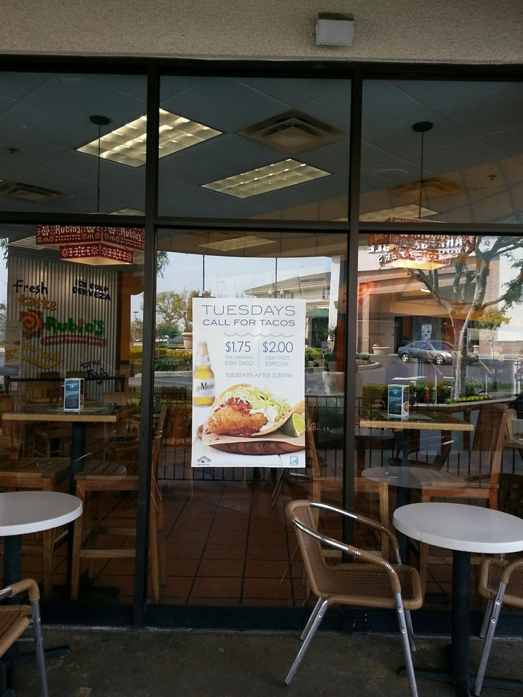 Updated fish taco tuesdays after 2 30 pm regular for Rubios fish taco tuesday