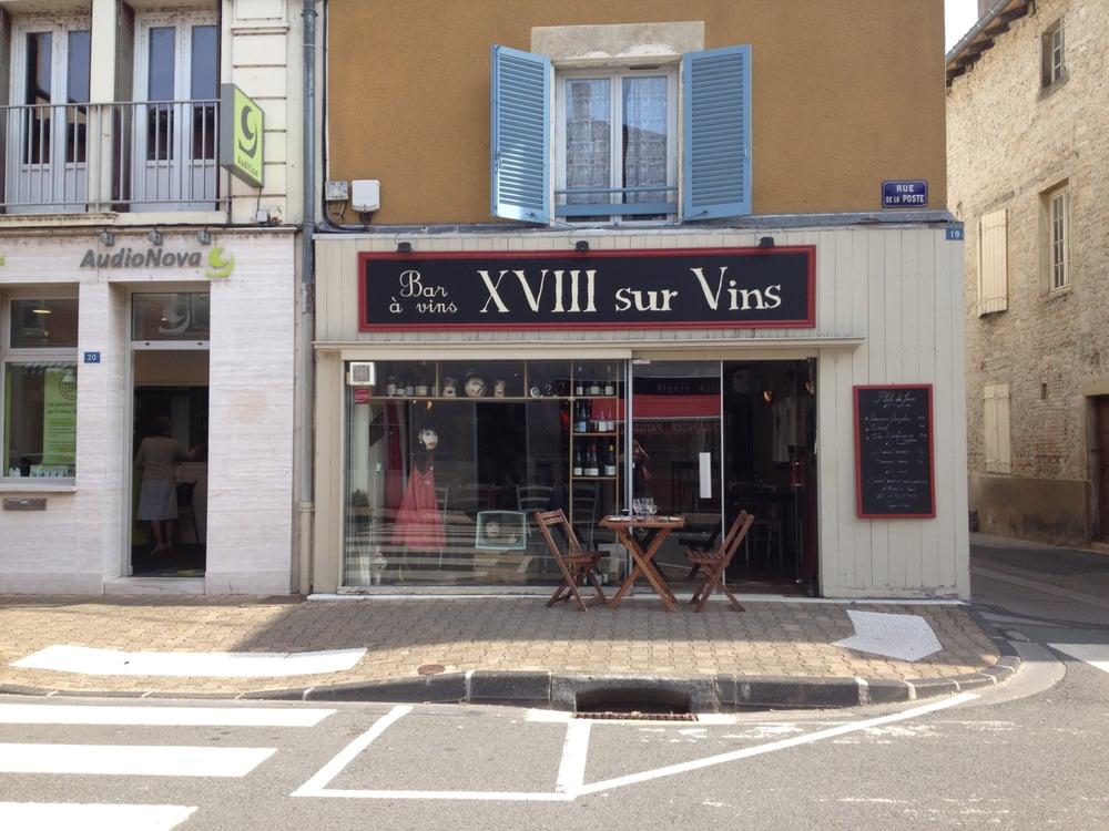 Xviii sur vins restaurant fran ais 18 rue de la poste for Rue de la cuisine chasse sur rhone