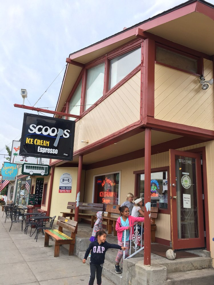 Scoops Ice Cream & Pizza: 205 S Broadway Ave, Red Lodge, MT