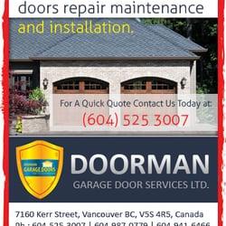 Photo of Doorman Garage Door Services - Vancouver BC Canada. Doorman Garage Doors  sc 1 st  Yelp & Doorman Garage Door Services - Garage Door Services - 7160 Kerr ...