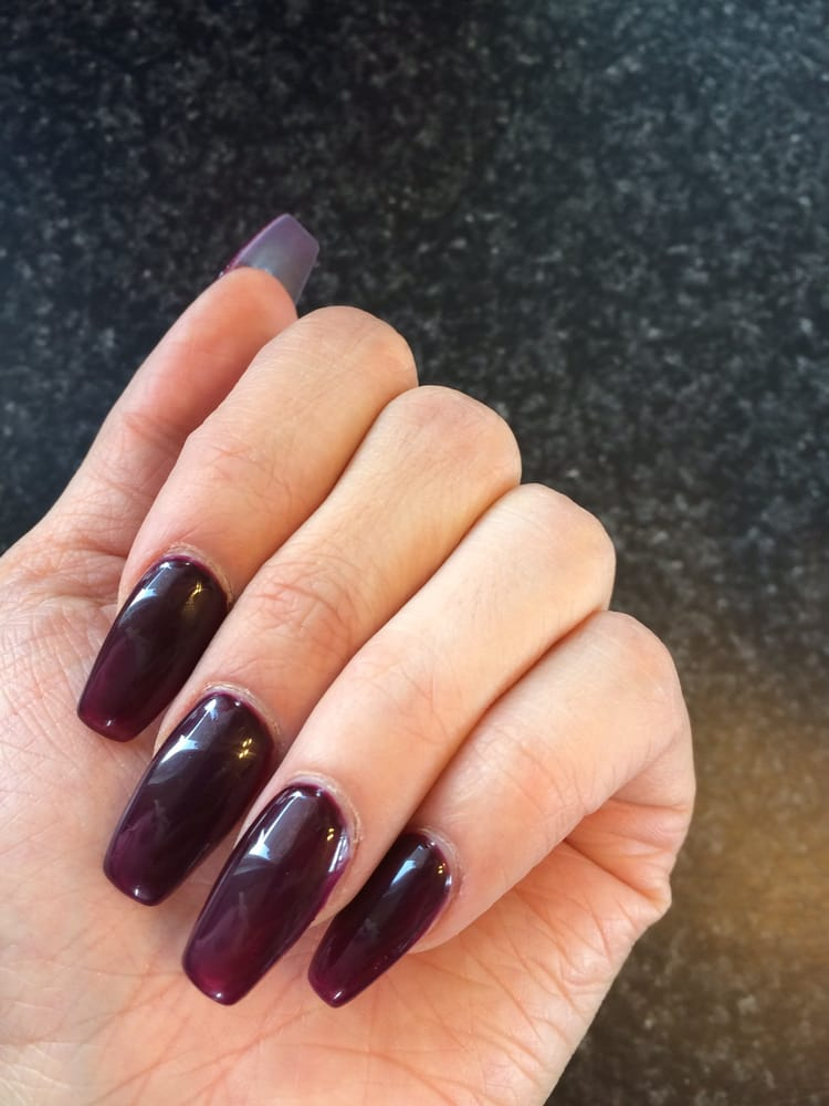 Photo Of Elegant Nails Kent Wa United States Wine Colored Coffin