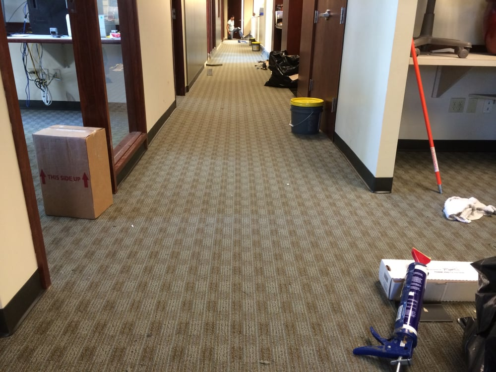 Commercial Pattern Matching Glue Down Carpet With Wall