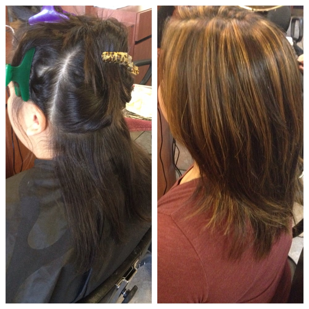 Hair extensions before and after bob