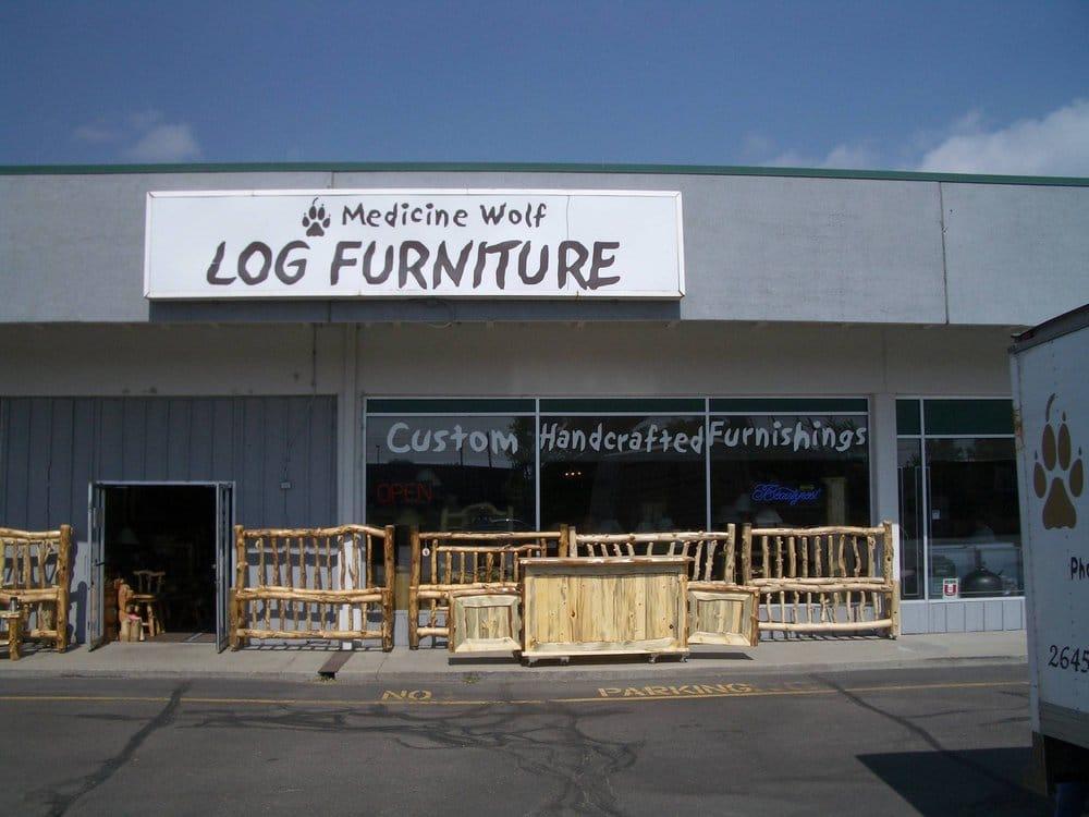 Medicine Wolf Log Furniture Company Furniture Stores 2645 S Santa Fe Dr Southwest Denver