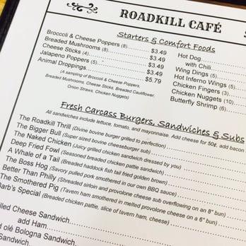 Road Kill Cafe Pa Menu