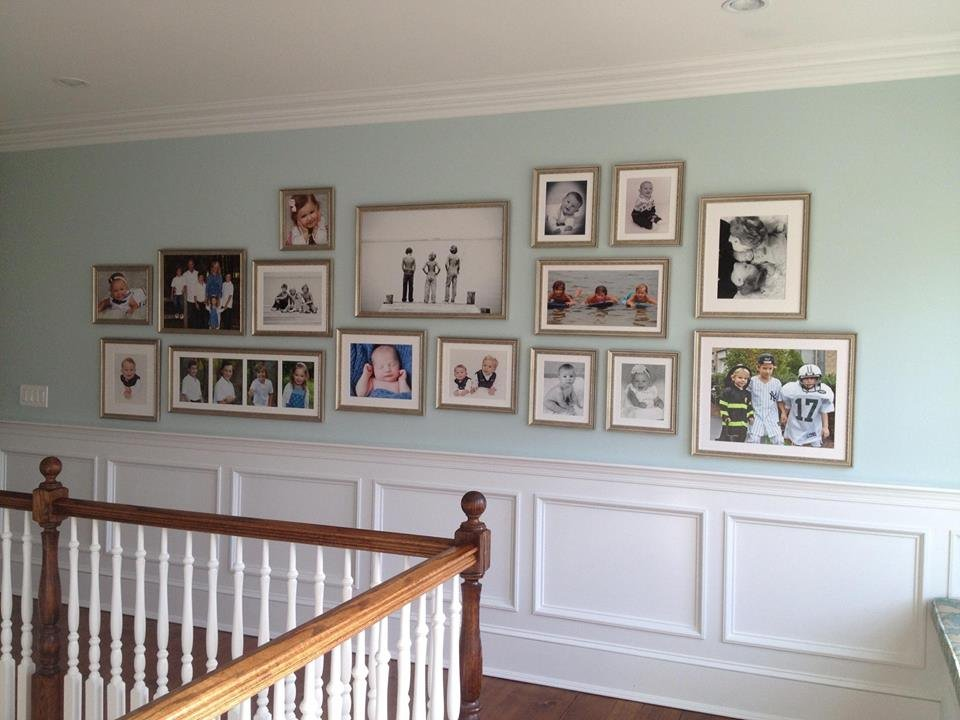 Family Photo Wall With An Array Of Different Frames Yelp