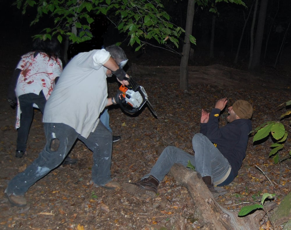 photo of halloween woods haunted forest sterling va united states