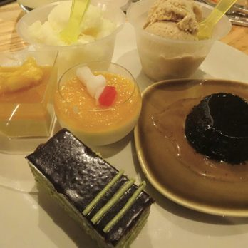 ... Mango Pudding, Limoncello Sorbet, Ginger Gelato, Bonet, Exotic Fruit