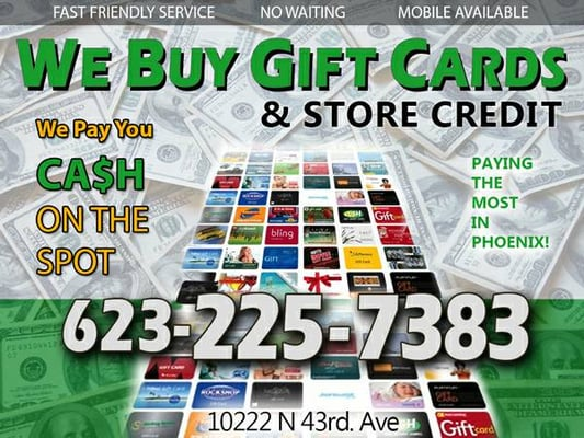 Cash For Gift Cards Closed Pawn Shops 10222 N 43rd Ave