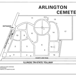 Arlington Cemetery Funeral Services Cemeteries E Lake St - Arlington cemetery on us map
