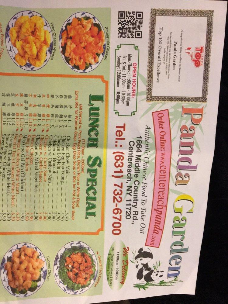 Online Menu Of Panda Garden Restaurant Centereach New York